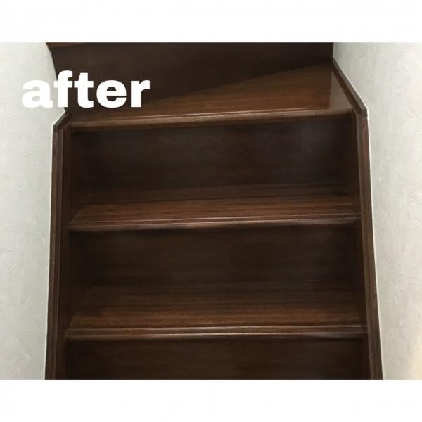 階段塗装完了です🏡